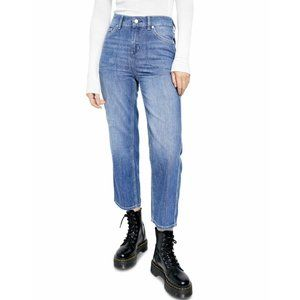 Free People Womens Jeans Size S Factory Distressed Elastic Waistband NWT